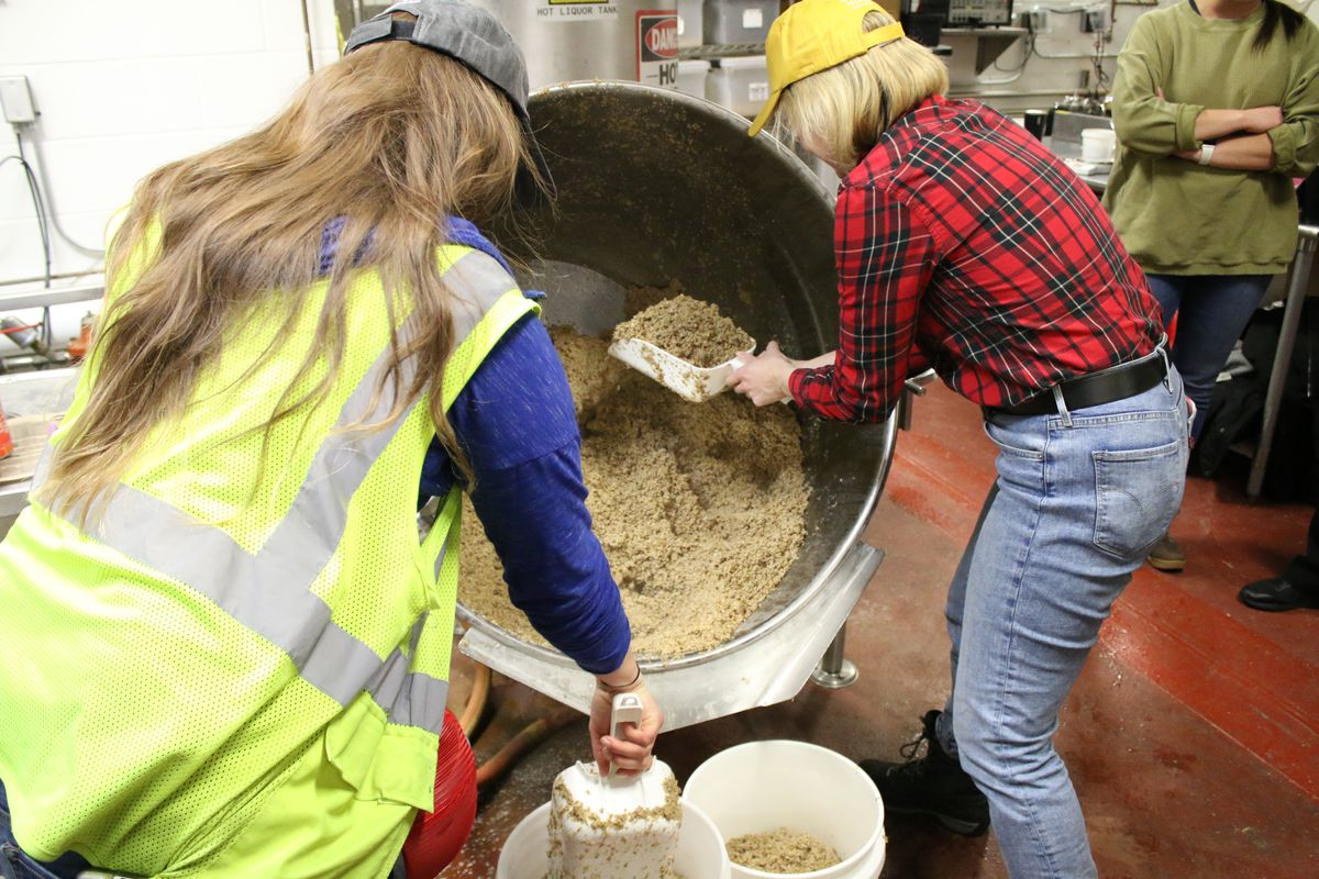 Female brewers at Goose Island, brewing a special beer called Women of the House, onInternational Women's Brew Day, Thursday February 13 2020.   Brian Rich/Sun-Times
