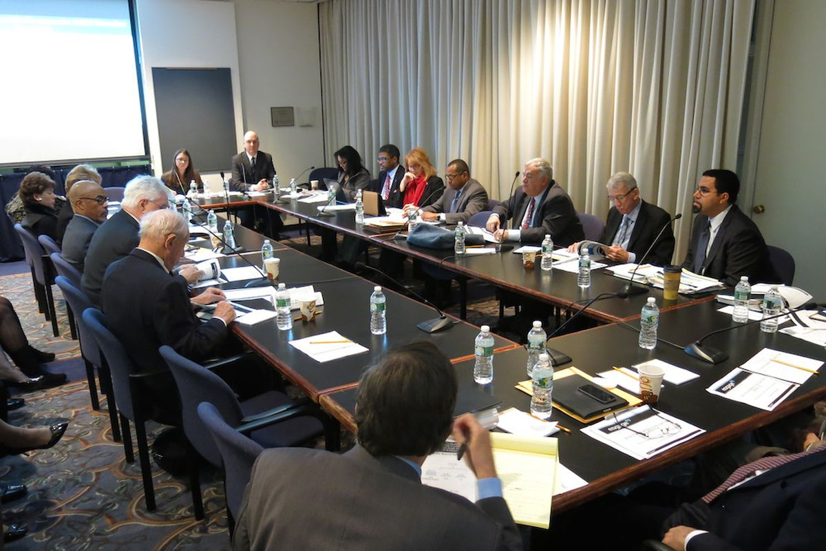 Board of Regents and State Education officials in a meeting  in Albany.