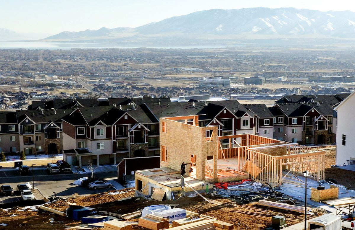 A home being built by C & S Contractors in Seasons Estates in Lehi is pictured on Thursday, Feb. 20, 2020.
