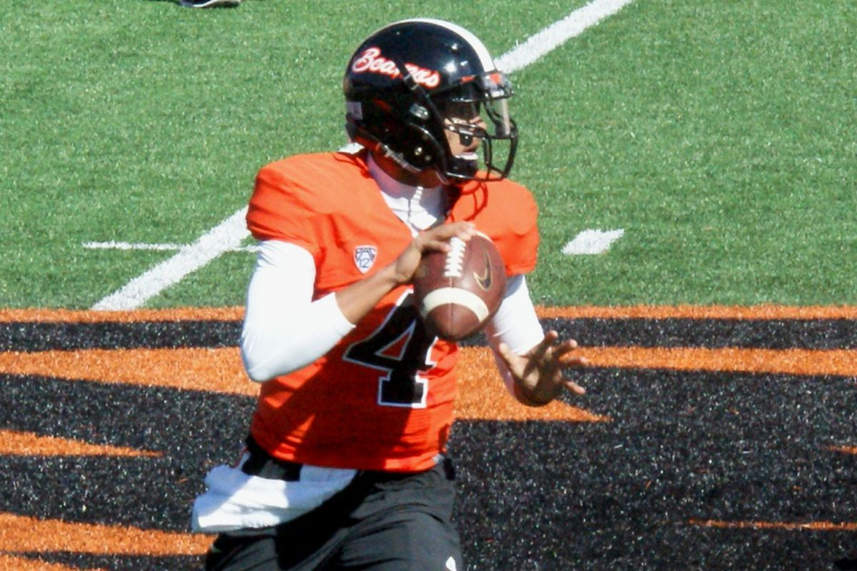 The future at quarterback for Oregon St. looks more and more like it will be Seth Collins, and Luke Del Rio decided to leave because of it.