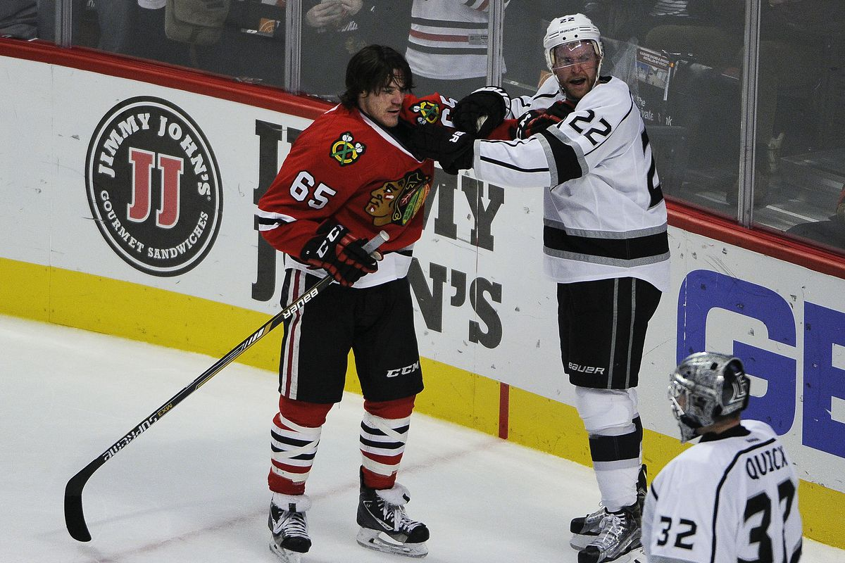 Shaw has Carcillo's face, if it was peppered by meteorites