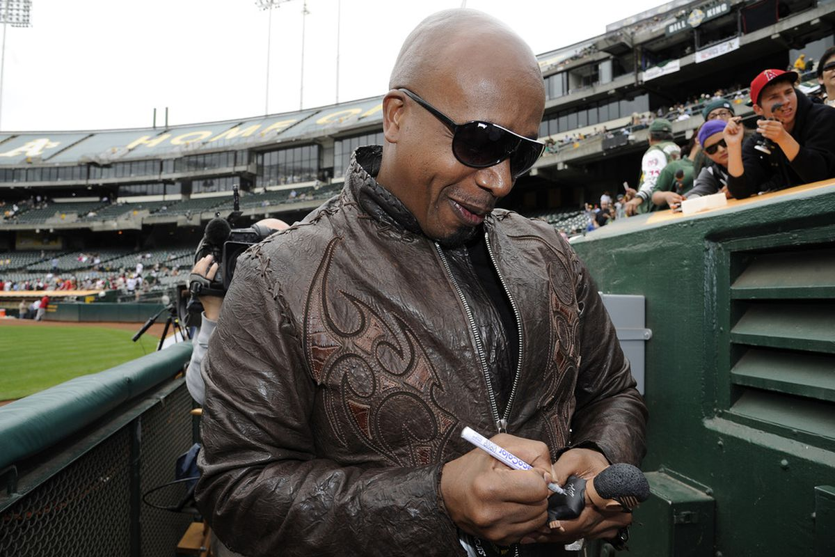 I tell you what you can't touch: that jacket. Look at that thing! MC Hammer's the man!