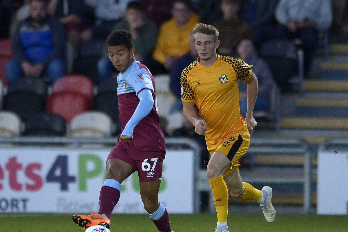 Newport County v West Ham United U21 - Leasing.com Trophy