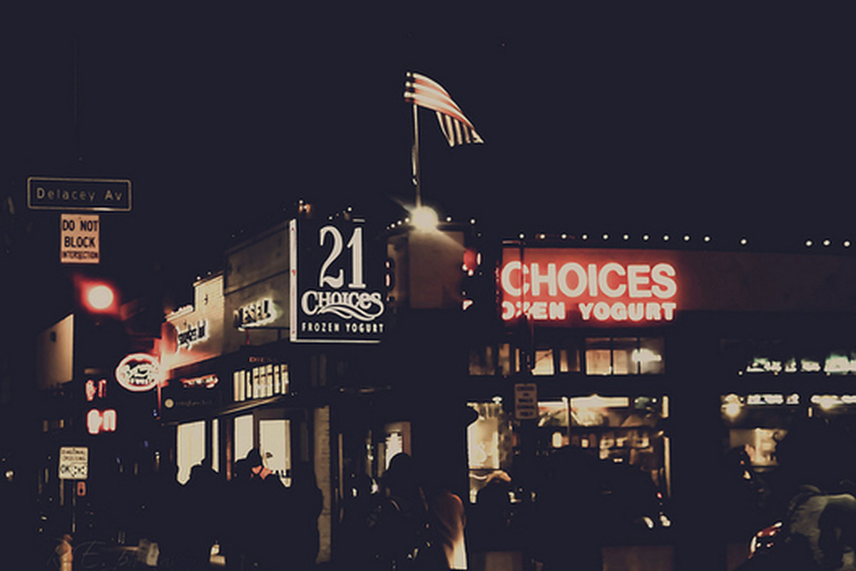 21 Choices froyo, Pasadena.