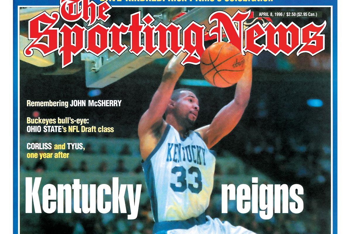 NCAA Basketball Covers - Kentucky Wildcats' Ron Mercer - National Champions - April 8, 1996