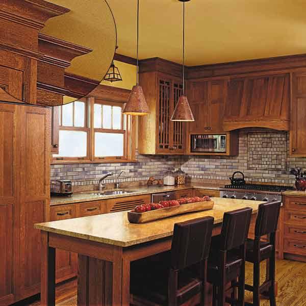Wood Trim in Kitchen