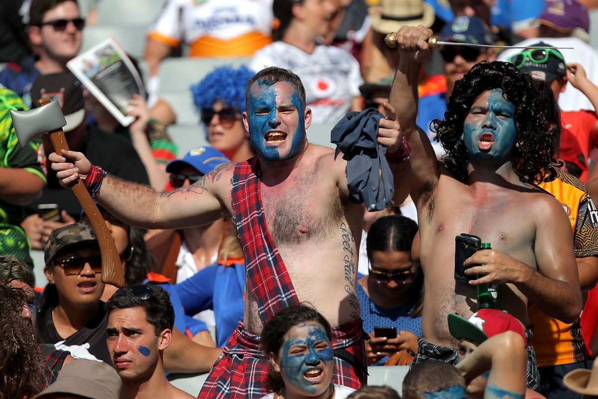 A dobber at the rugby, a private-school education apparently not enough to tell you that tartan and woad among Scottish warriors had several centuries of distance between them.