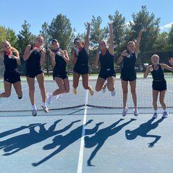 Desert Hills' girls tennis team won the Region 10 tournament last week heading into this week's 4A state tournament.