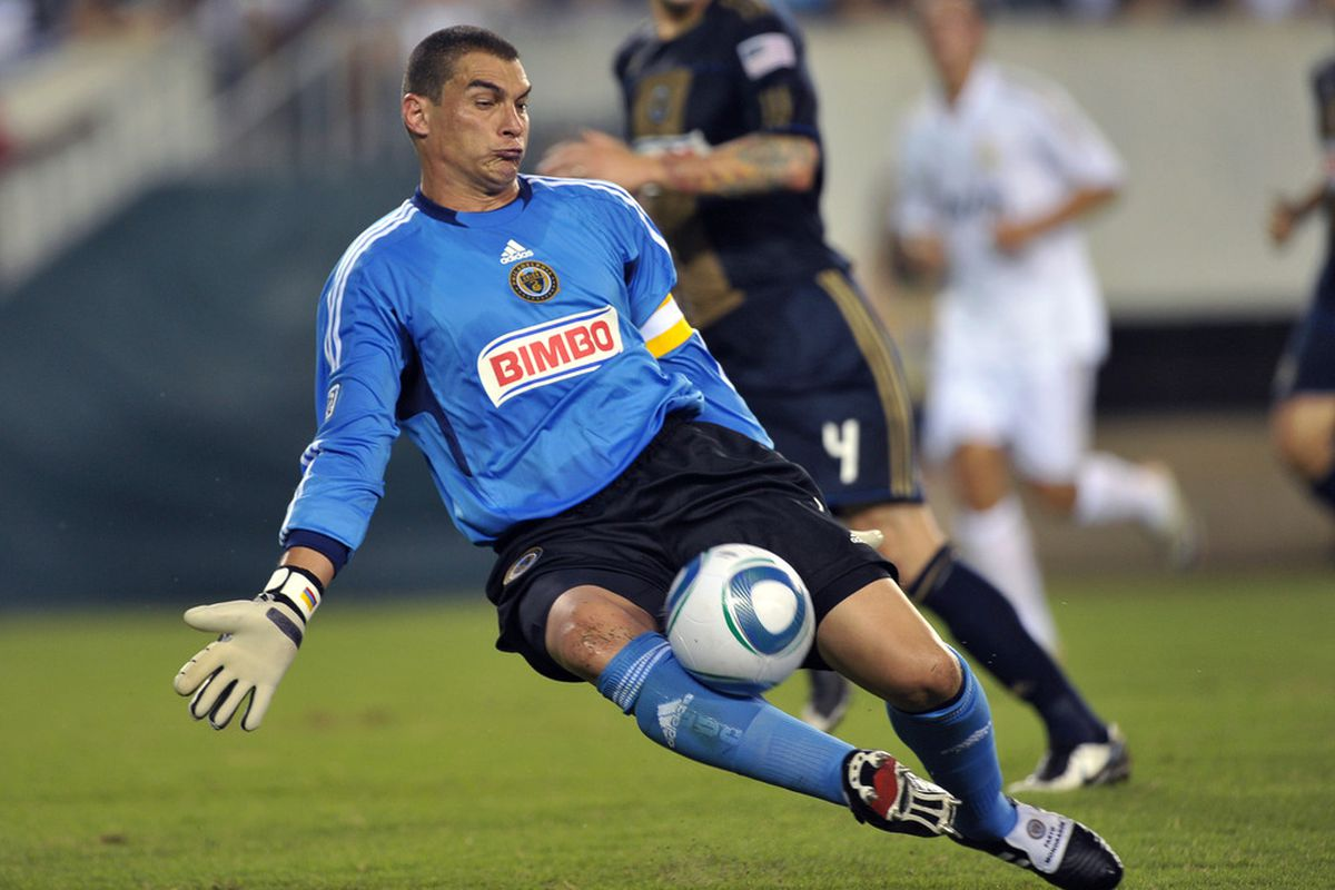 Goalkeeper Faryd Mondragon is the Union's highest paid player. (Photo by Drew Hallowell/Getty Images)