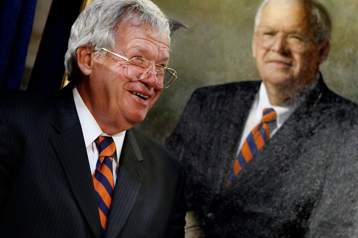 Former House Speaker Dennis Hastert attends the unveiling of his portrait at the U.S. Capitol on July 28, 2009.