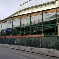 View of south side of ballpark on Addison