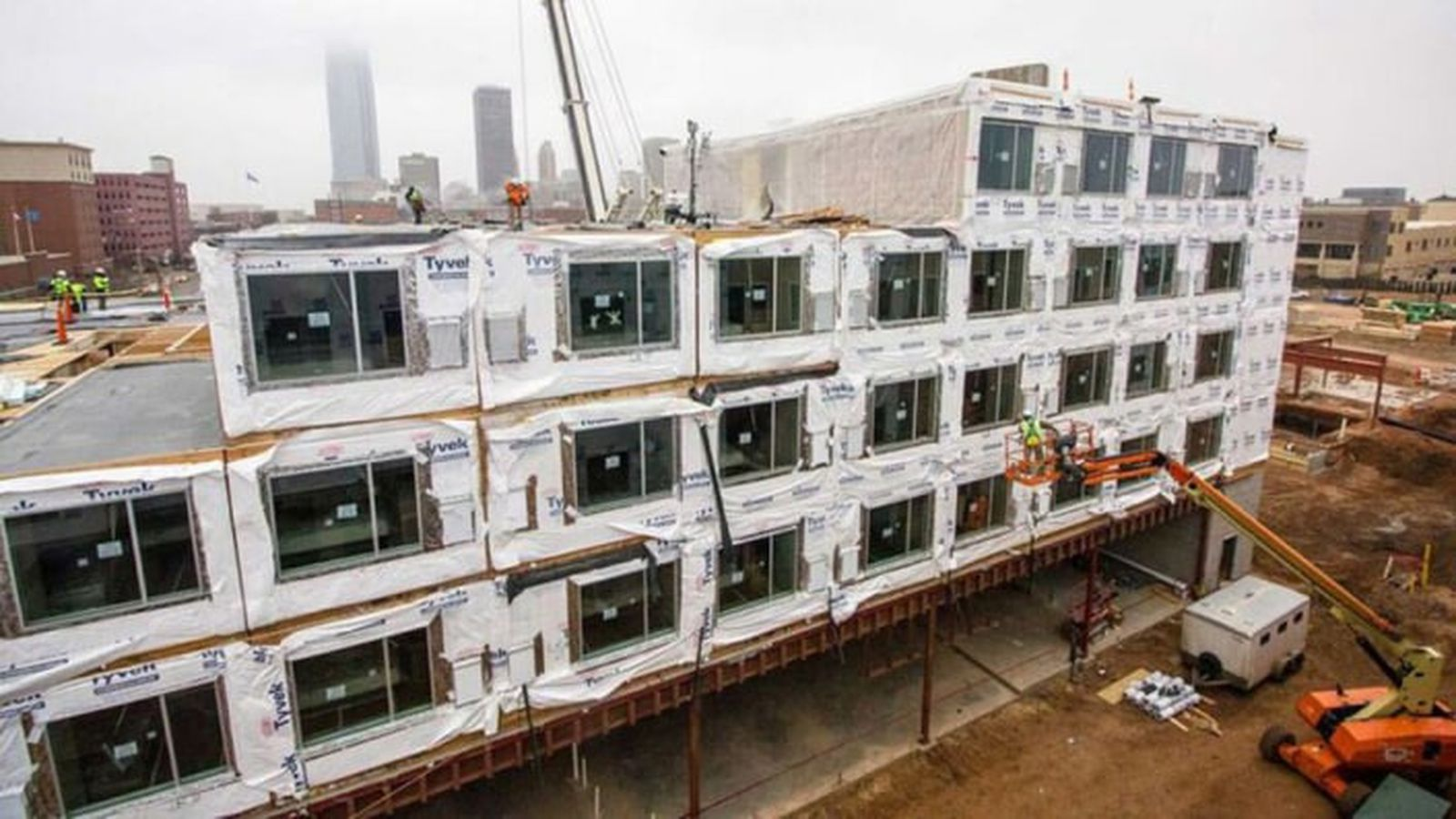 Marriott hotels turn to prefab for more efficient for Prefab framing