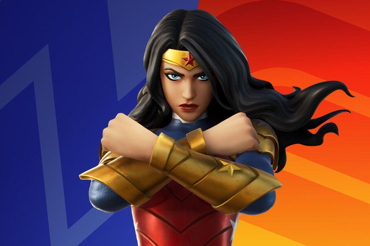 The Wonder Woman skin in Fortnite