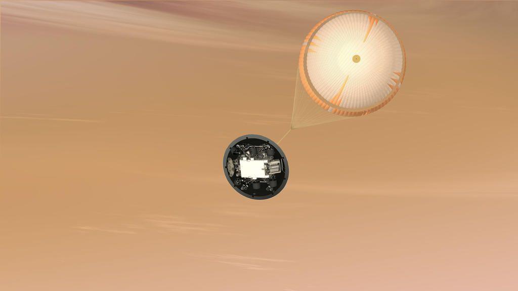 mars curiosity chute