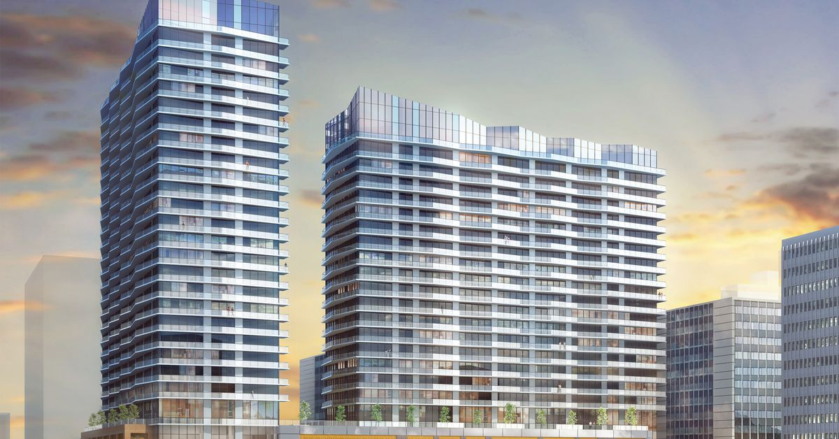 Renderings Two Towers Planned Near The Purple Line In