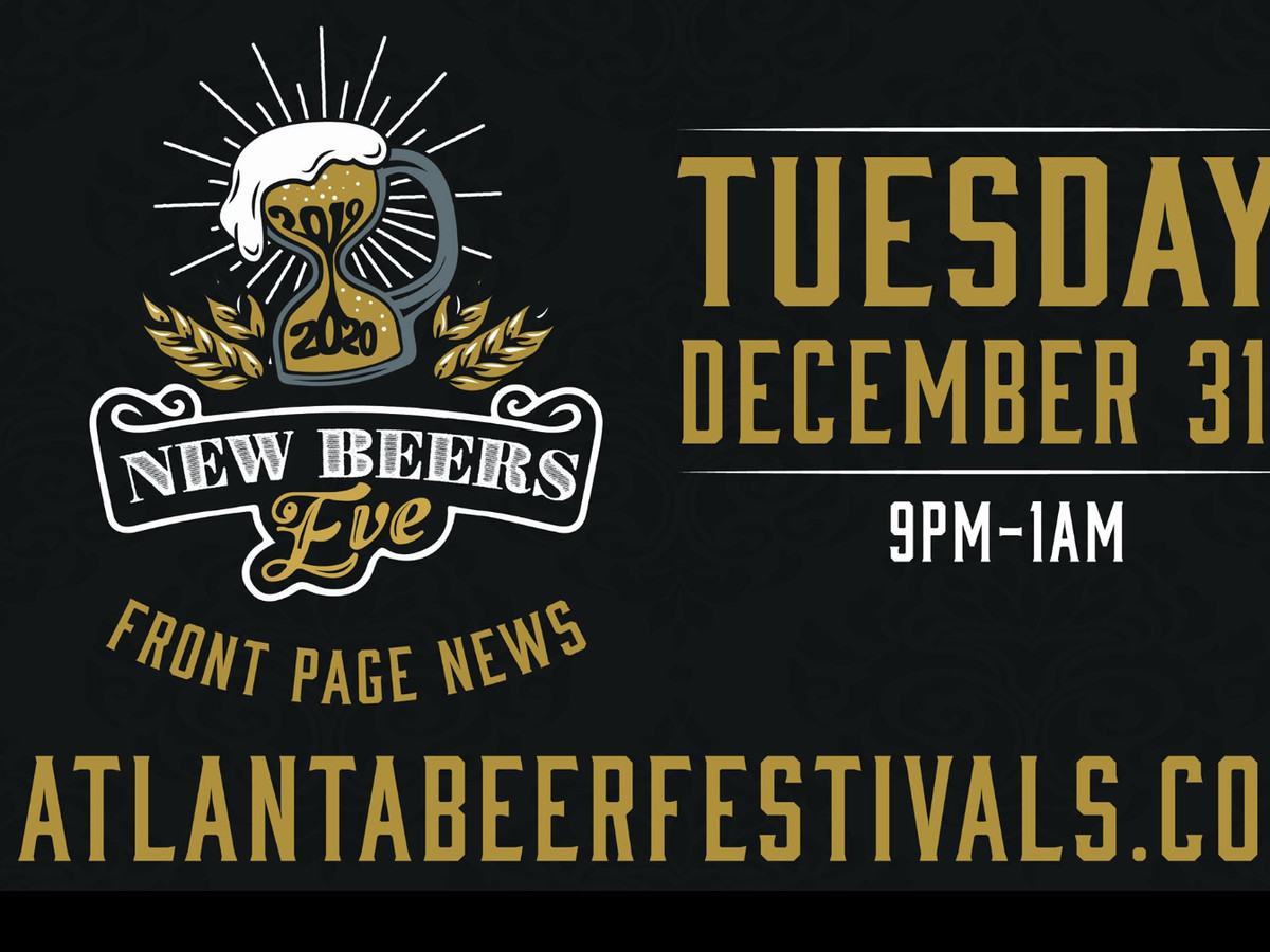 Graphic advertising New Beers Eve with date and time listed.