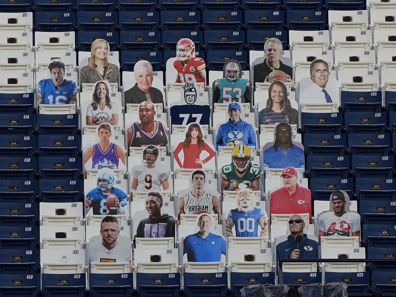 Taysom, KVN, Jimmy Mac, Andy Reid, Jimmer, Spida? They all attend BYU's game, at least in cutout form