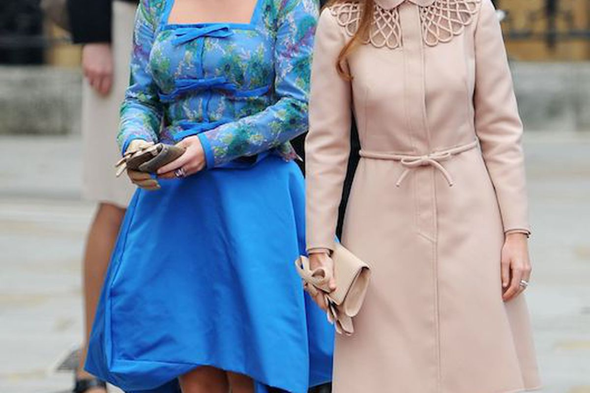 Princess Eugenie and Princess Beatrice wear amazing hats. Photo: Getty Images