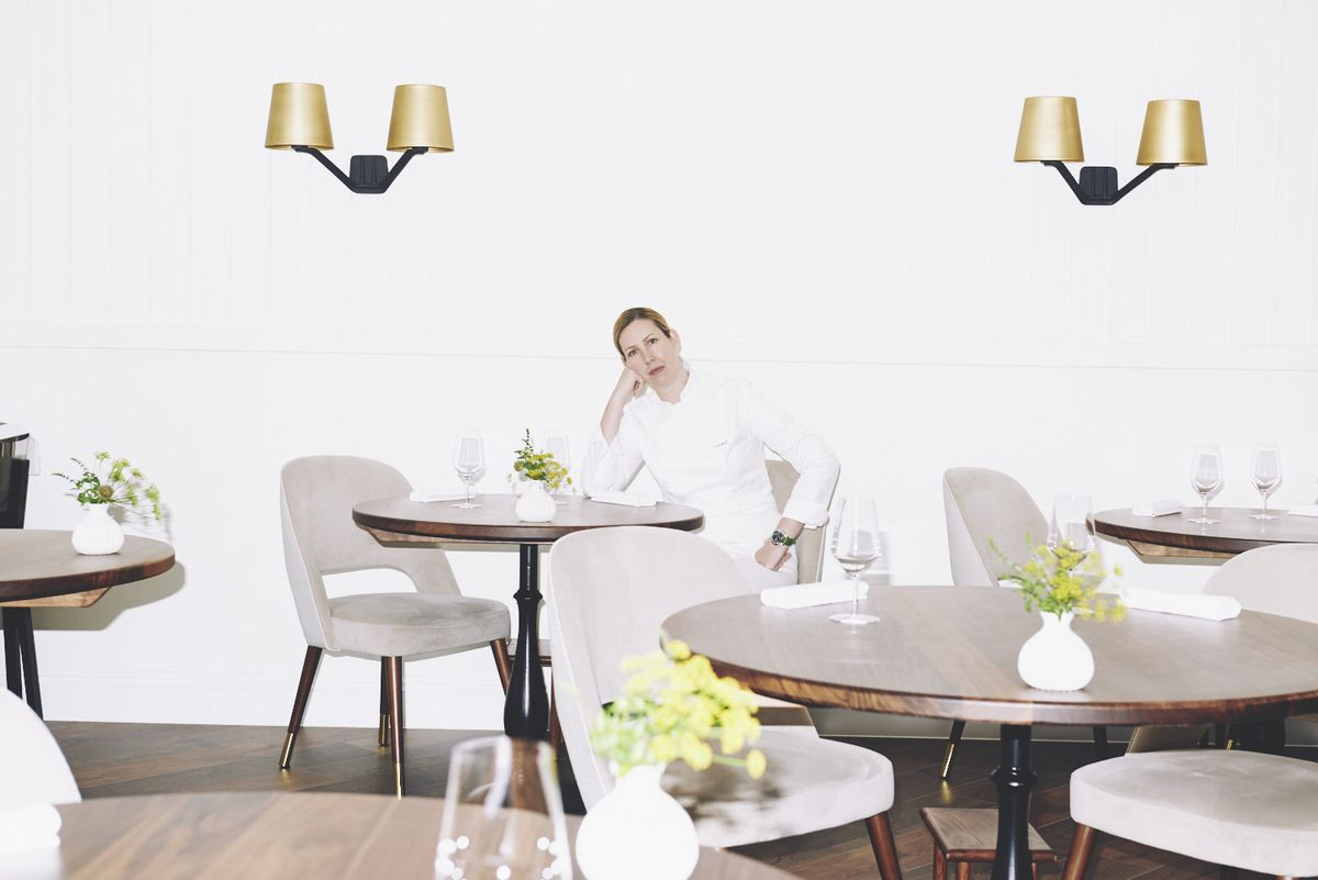 Chef Clare Smyth at her eponymous two Michelin star restaurant Core by Clare Smyth in Notting Hill, London