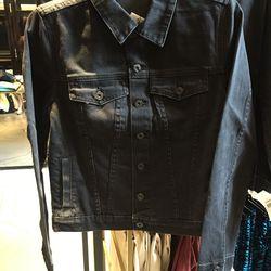 Black denim jacket, $99 (was $495)