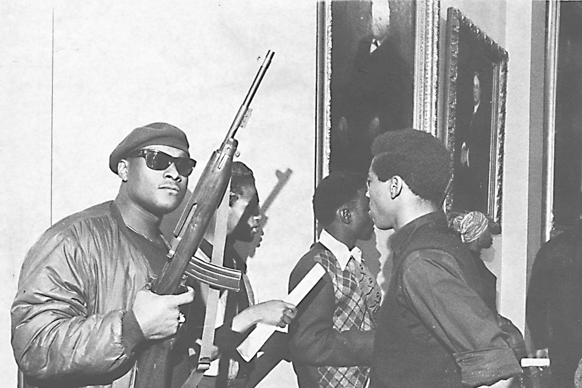 An armed member of the Black Panthers in 1967.