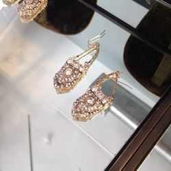 Deco earrings with crystal stones from the 1920s, $75