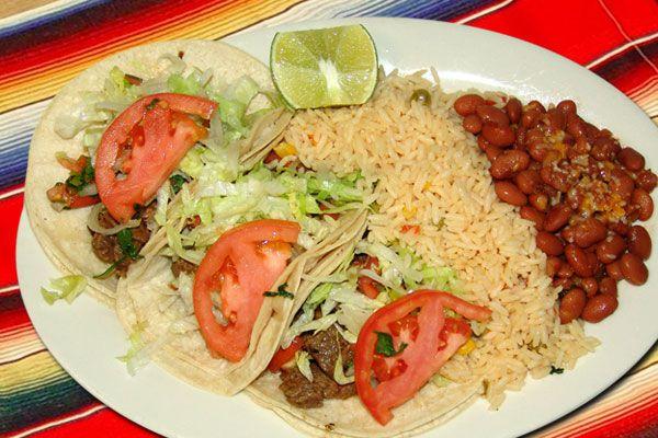 The taco combo at Taco Mex