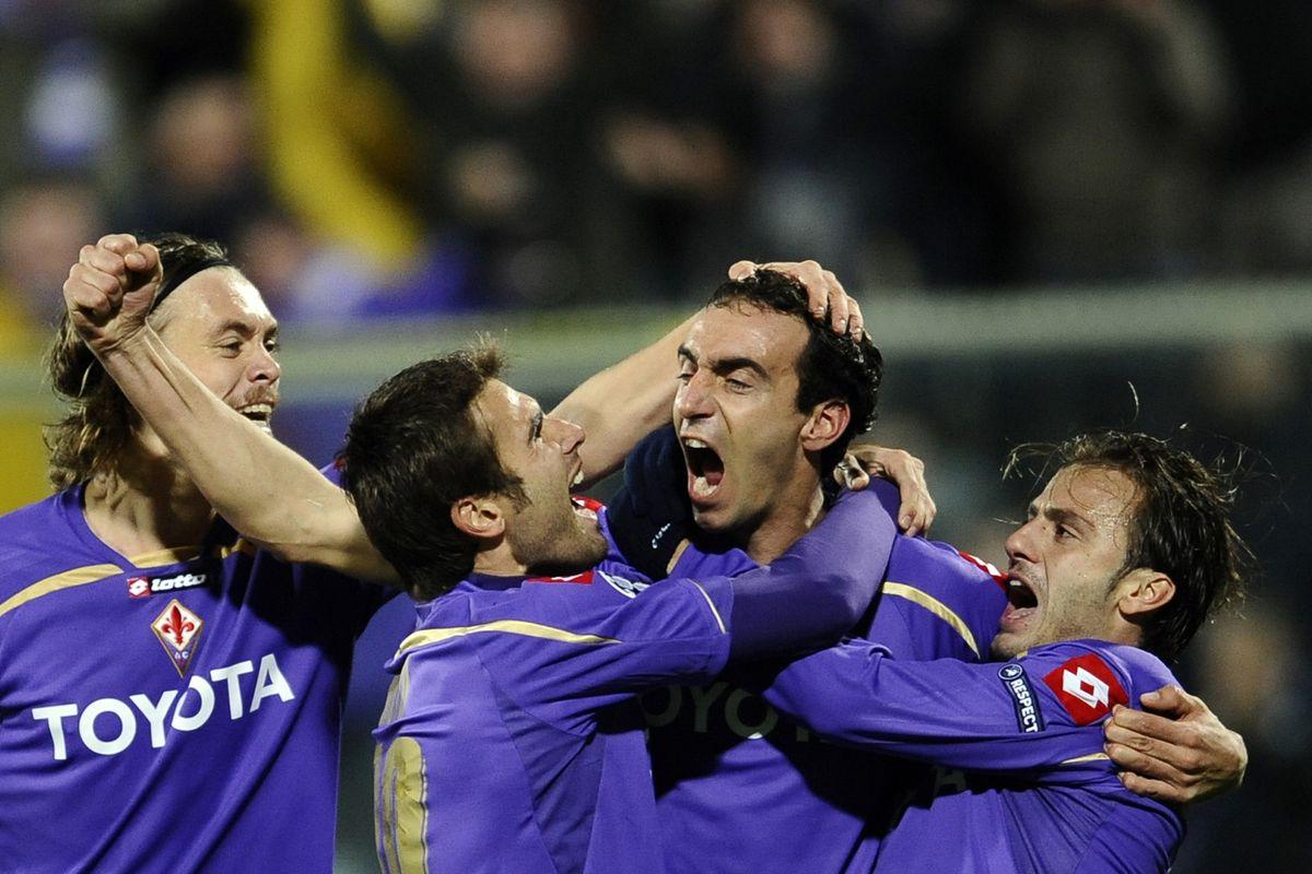 Fiorentina's defender captain Dario Dain