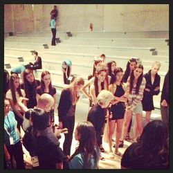 Models listen carefully to the show producer on how to walk the runway. There is always a specific spread, mood, and attitude to the show that tells the complete story of the designer. It's all in the details! I like to watch rehearsals so I can study the
