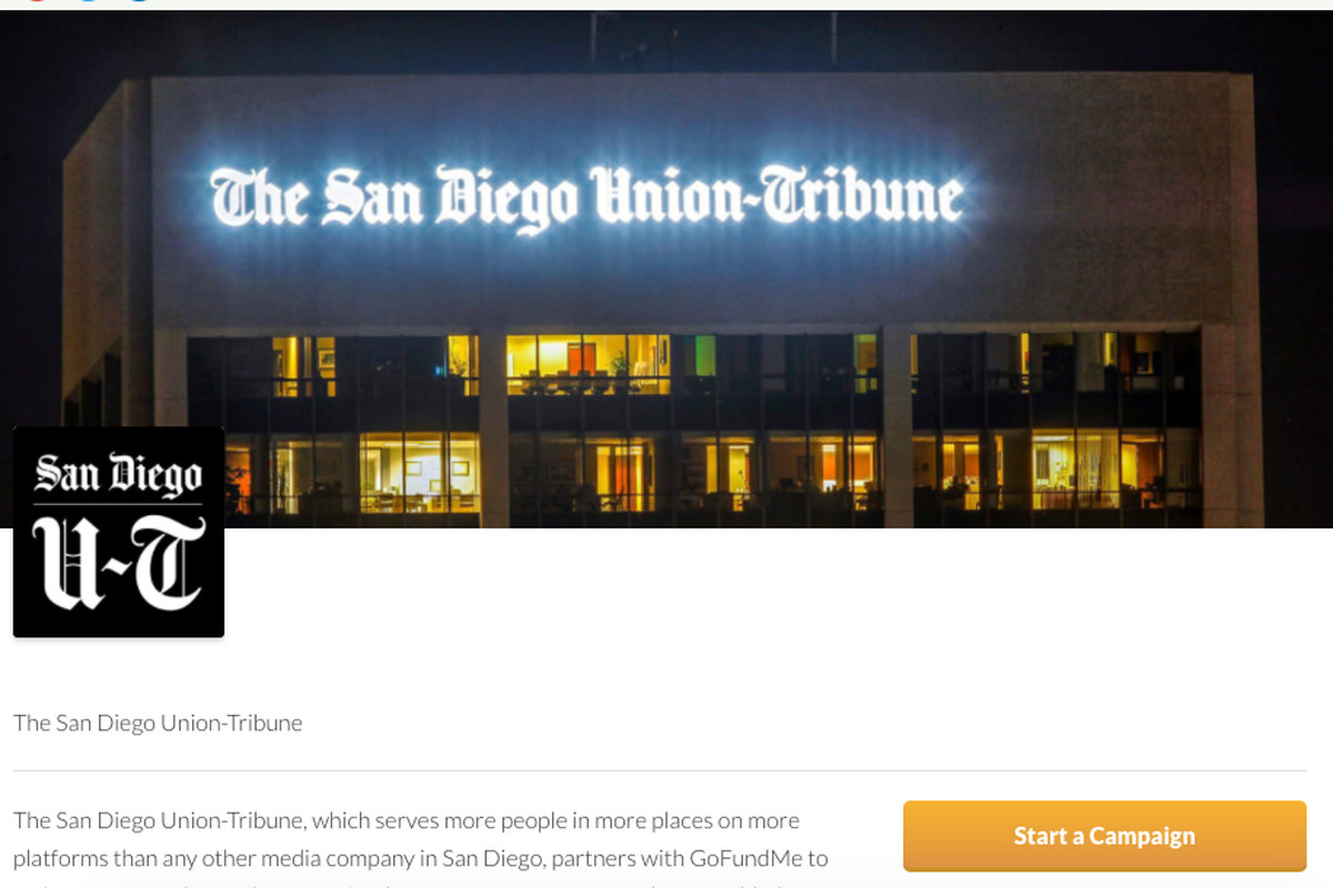 A San Diego newspaper is partnering with GoFundMe to launch