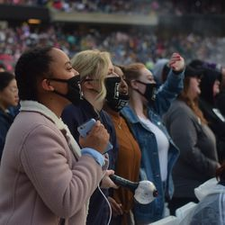 Fans at Soldier Field for BTS concert , May 11, 2019. | Mark Brayboy/For the Sun-Times