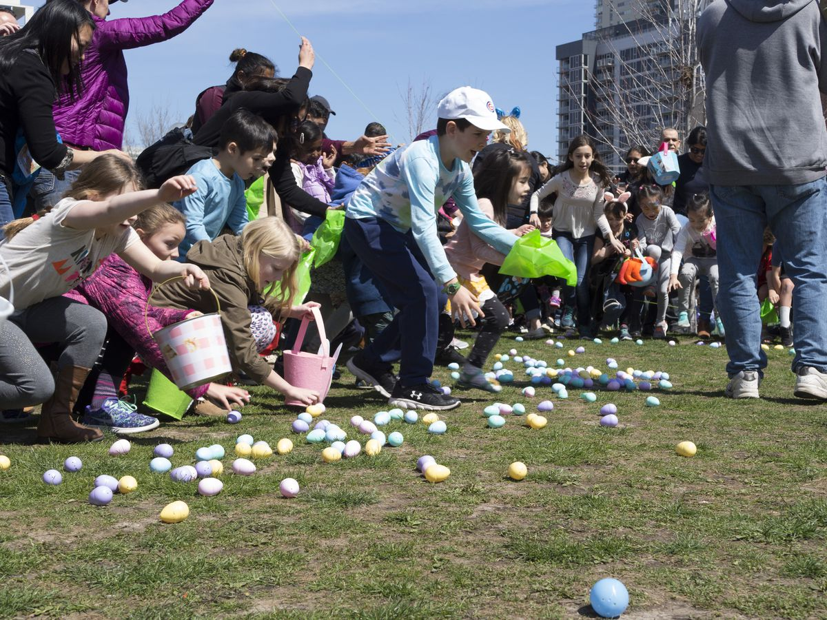 Soul City's ultimate Easter egg hunt, boasting 55,000 eggs for the taking, also features outdoor games, local food trucks and vendors, prizes, candy and more.   Fabi Hamstra/ Soul City Church