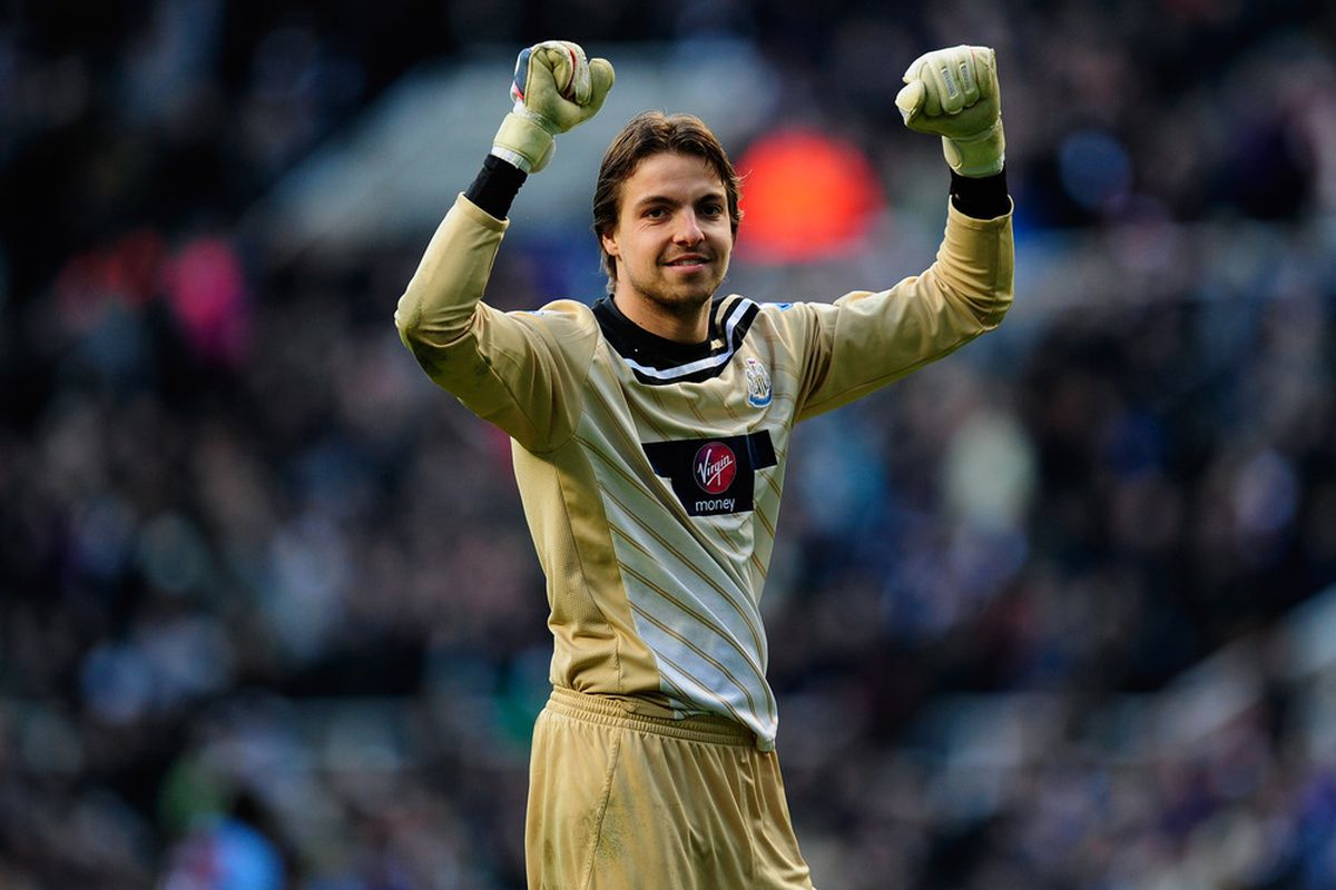 Tim Krul wants to celebrate.  Won't you celebrate with him?