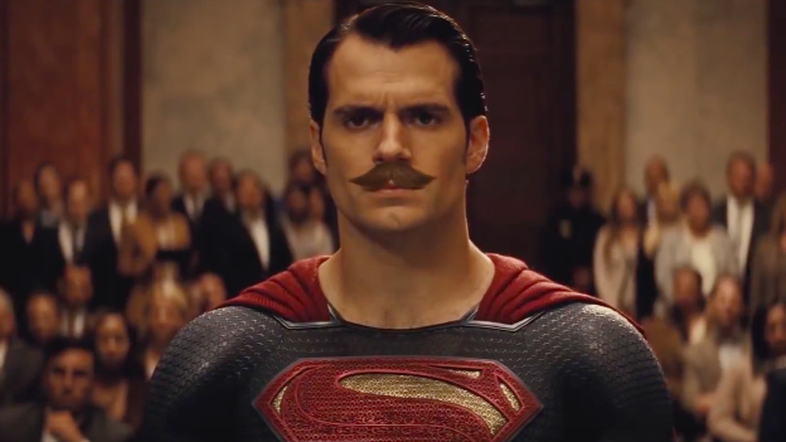 Superman gets a mustache in Batman v Superman edit and all is right in the world