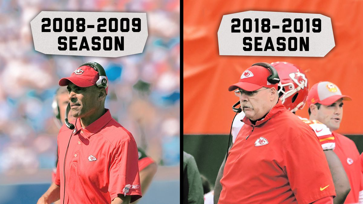 Herm Edwards and Andy Reid