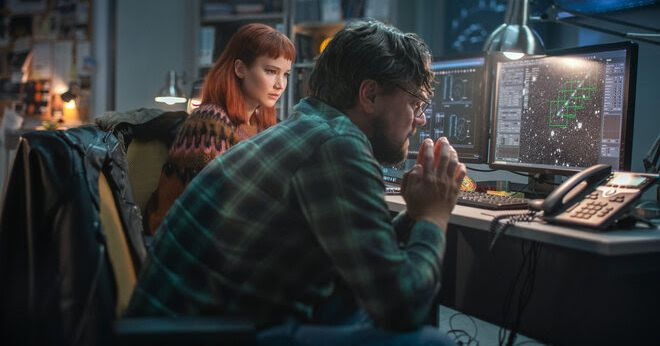 In Netflix's Don't Look Up, Leonardo DiCaprio and Jennifer Lawrence are astronomers trying to save the world