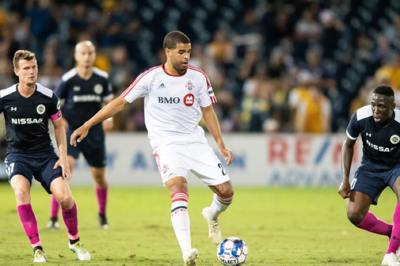 USL Photo - Toronto FC II's Jordan Hamilton met a Ryan Telfer ball to find a late equalizer against Nashville SC