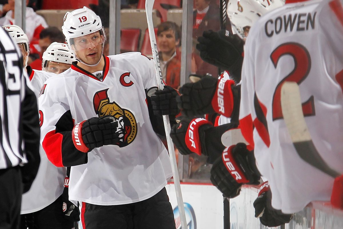 Jason Spezza gets another shot with Bobby Ryan tonight.