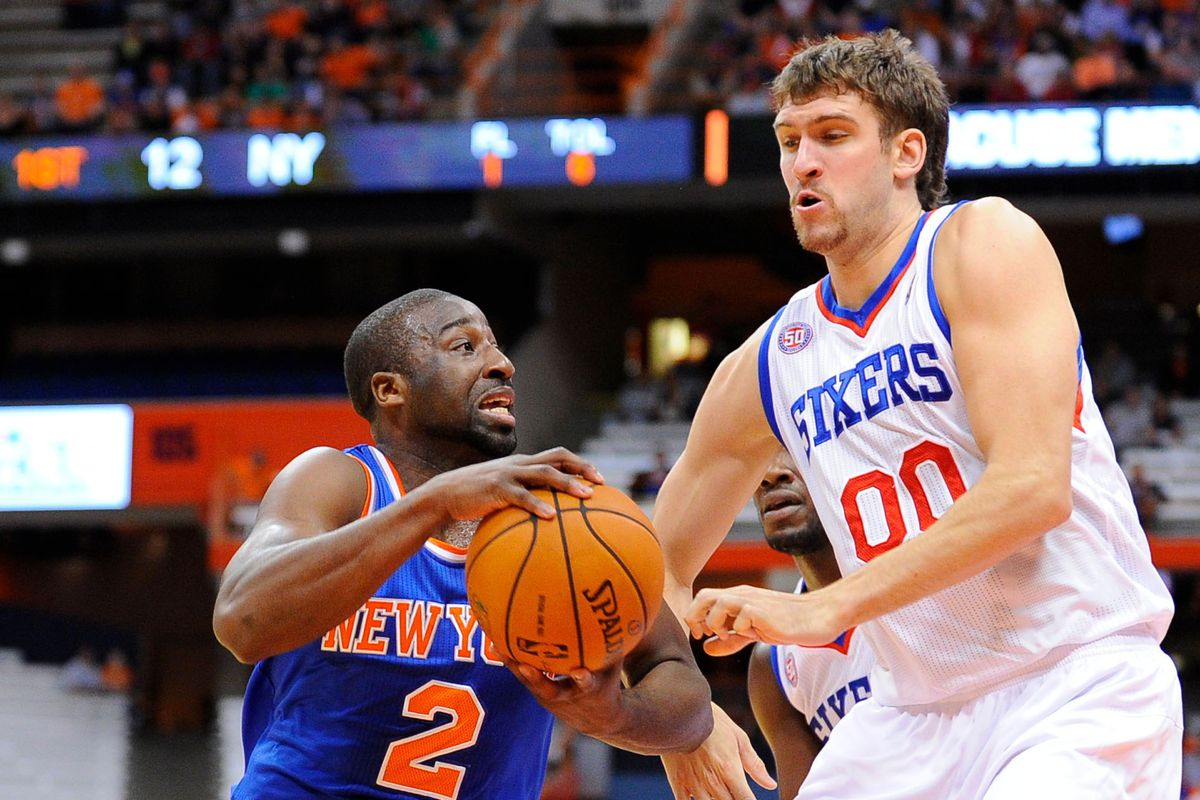 One of my favorite Spencer Hawes/Raymond Felton pictures ever.