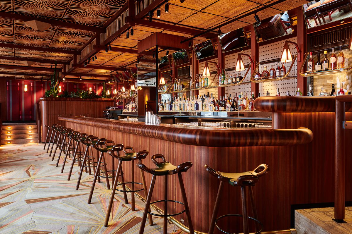 The bar at Decimo, the new King's Cross restaurant by chef Peter Sanchez Iglesias at The Standard Hotel London