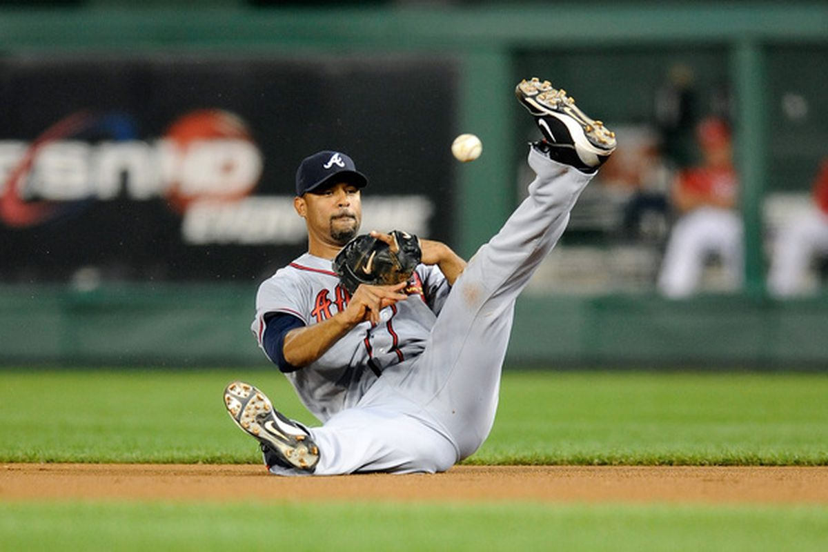 In addition to some good hitting, Derrek Lee brought his solid defense and smooth modern dance moves to the Braves.