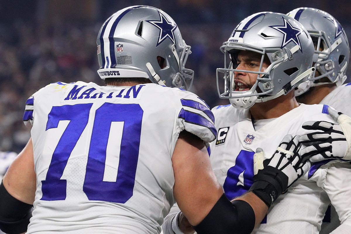 """huge selection of 0bb67 28333 Zack Martin near the top of """"outlier"""" contracts, but that's ..."""