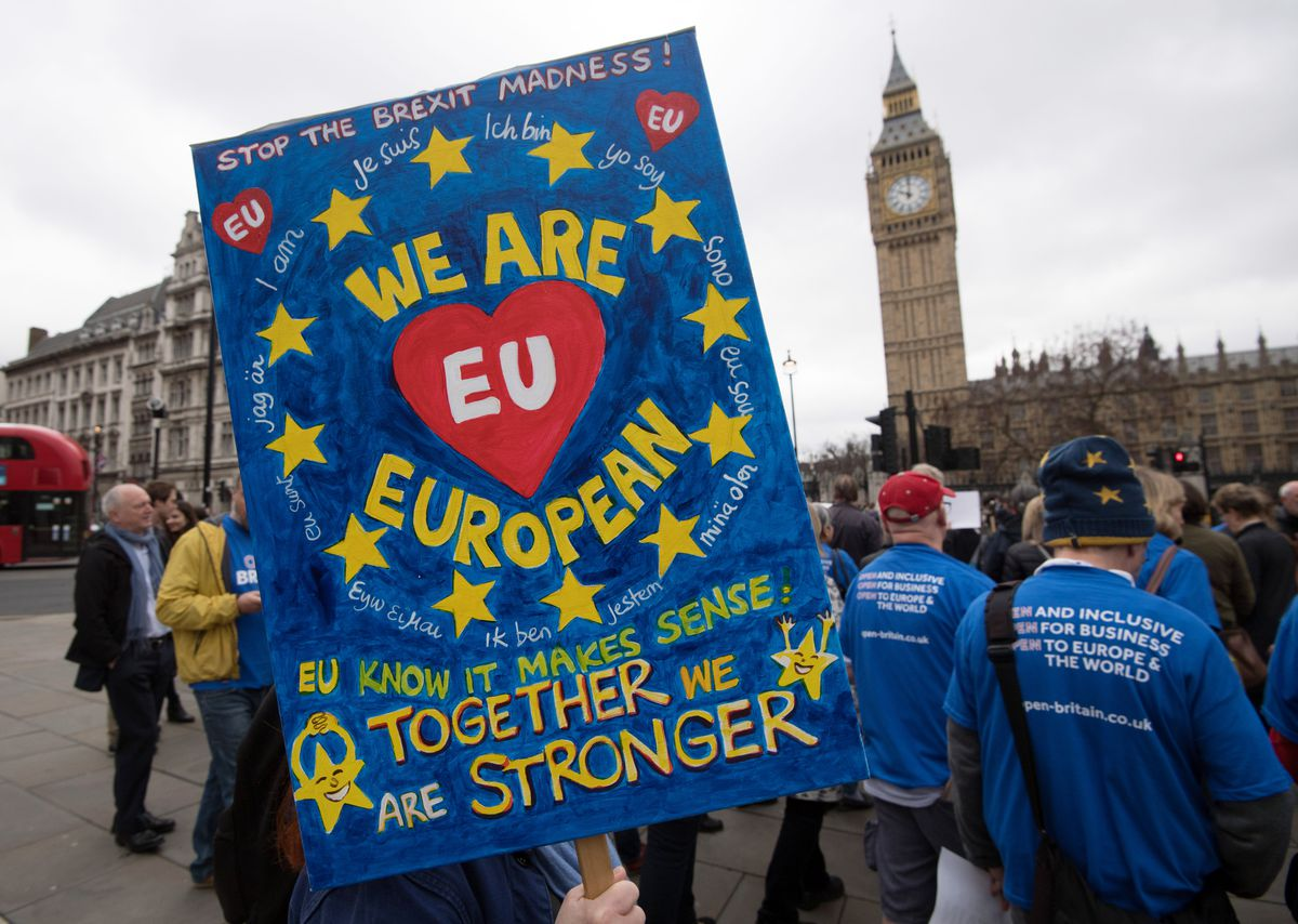 Protests As The British Prime Minister Triggers Article 50