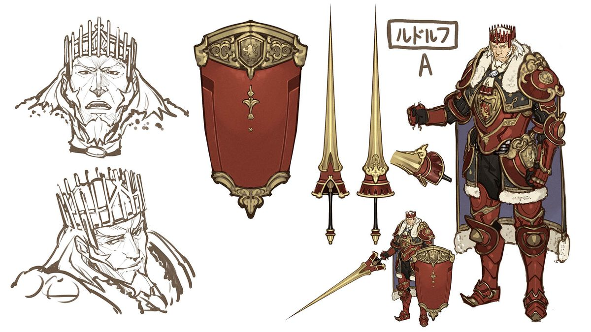 Fire Emblem Echoes Team Its A New Experience Not An Old Game 3dsfire Shadow Of Valentia Concept Art For Rudolf Main Character In Shadows Intelligent Systems Nintendo