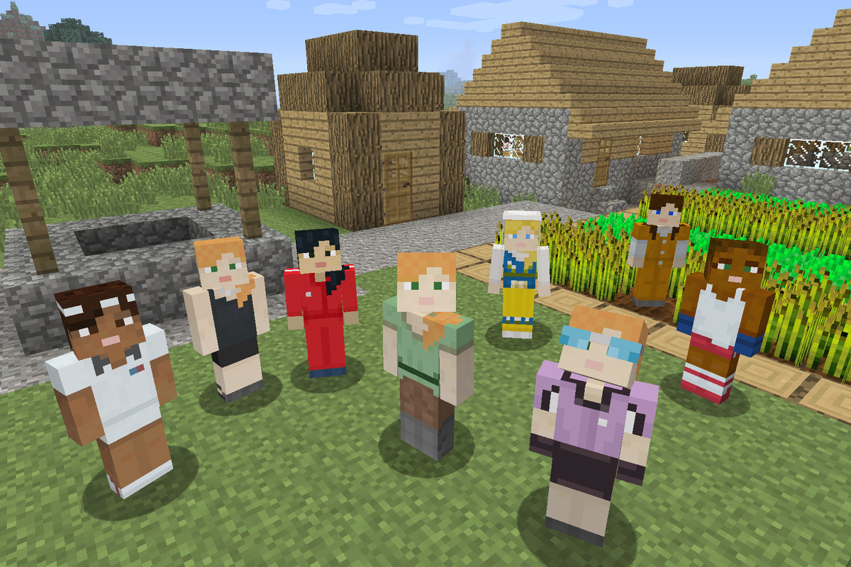 You can finally choose to play as a girl in Minecraft - The Verge for All Minecraft Characters  66pct