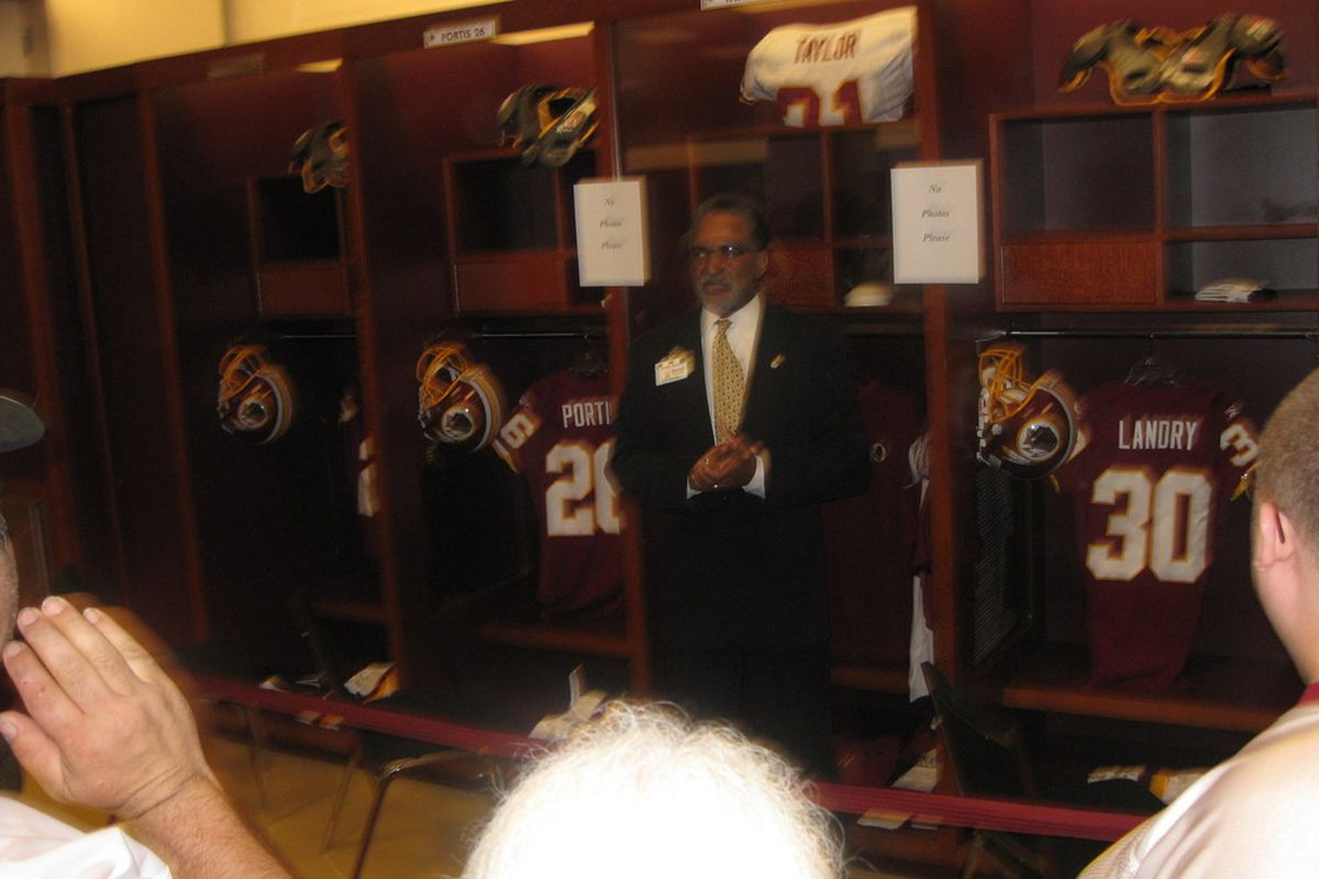 Sean Taylor's locker; Picture taken by your truly last draft day.