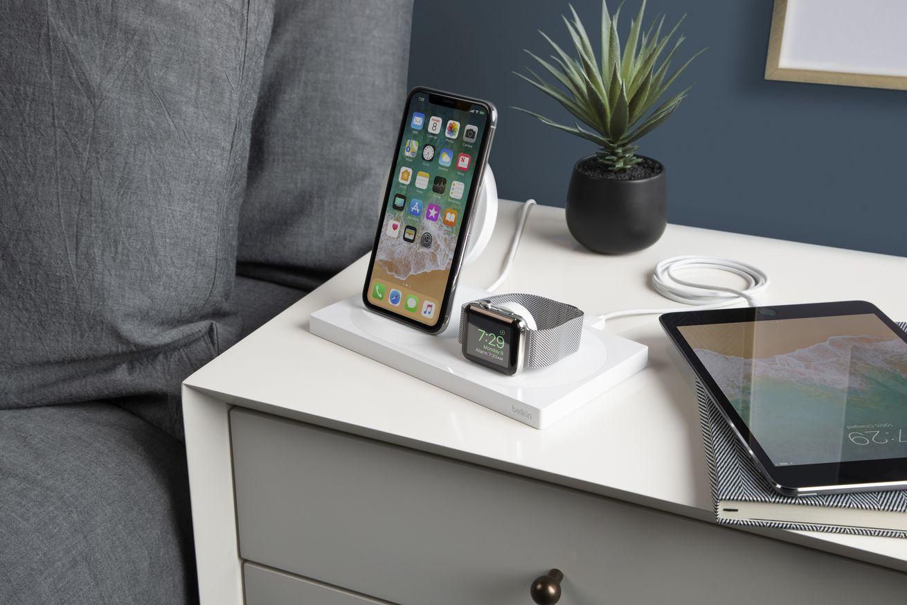 belkin s boostup wireless dock can charge three apple devices at once