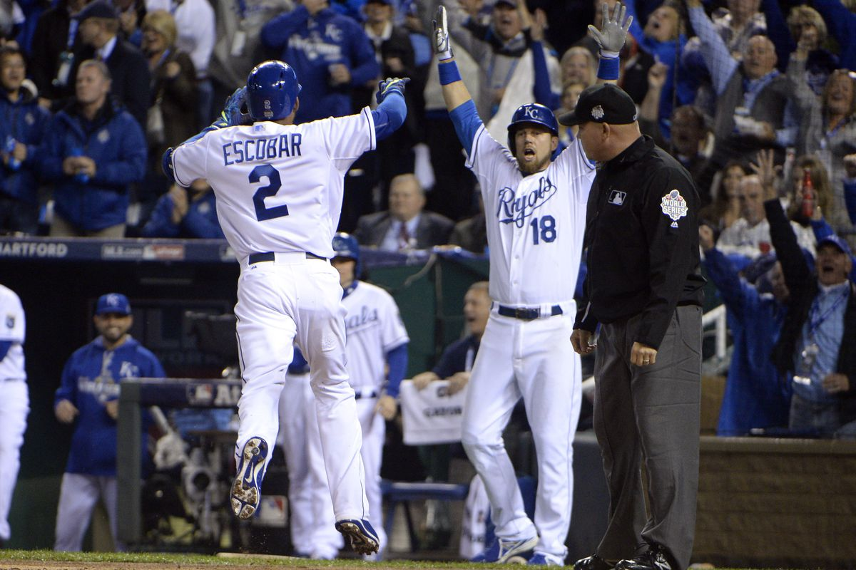 An inside-the-park home run is certainly one way to kick off the World Series.