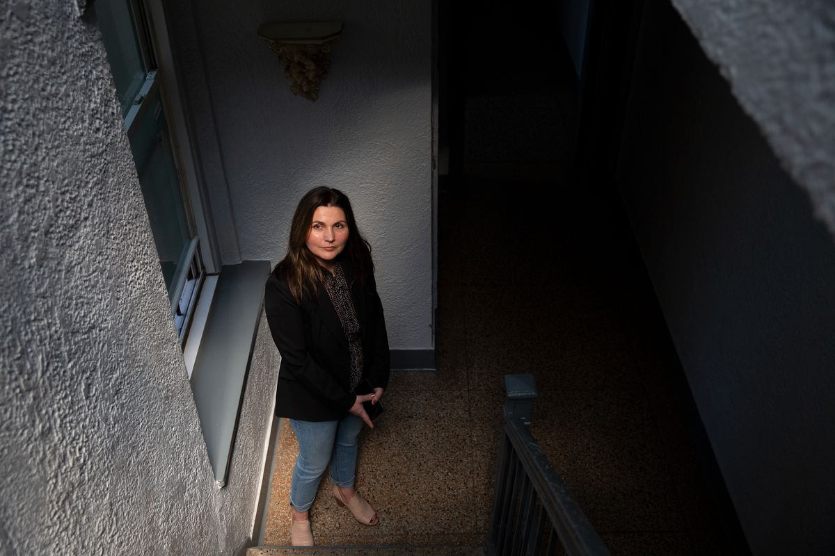 Building owner Valentina Gojcaj manages several residential buildings in The Bronx, May 20, 2021.