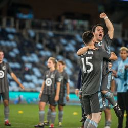 August 14, 2019 - Saint Paul, Minnesota, United States - Special Olympics teams representing Minnesota United FC and The Colorado Rapids play a match at Allianz Field. (Tim C McLaughlin)